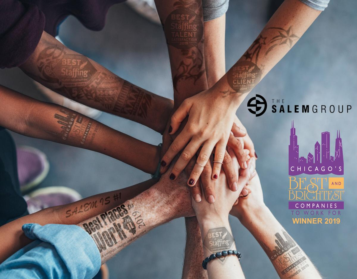 The Salem Group Best & Brightest Award Logo with Tattooed Arms